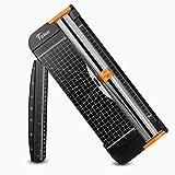 Firbon Papierschneider A4 schneidemaschine12 Zoll Titan mit Automatischer Sicherheitsüberwachung Guillotine und Seitenlineal für Gutschein, Grußkarten und Foto
