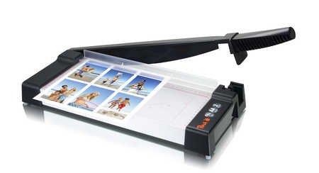 Peach PC300-01 Hebelschneider |DIN-A4 | schneidet 10 Blätter auf einmal |für Zuhause, im Büro, in der Schule | Metallgehäuse |transparente Anpressschiene