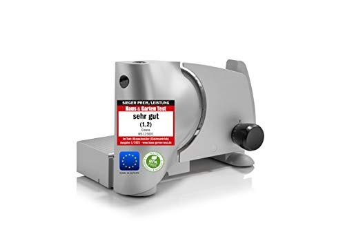 Emerio Allesschneider'Made in EU' MS-125001, Edelstahl Universal-Messereinheit in Deutschland produziert, einstellbar 0-15mm, BPA frei, Metallgehäuse, mit Sicherheitsschalter, Eco 110 Watt