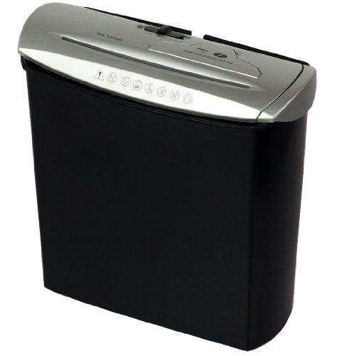 Genie 245 CD Aktenvernichter, bis zu 5 Blatt, Streifenschnitt (Sicherheitsstufe P-1), mit CD-Shredder, inkl. Papierkorb, silber/schwarz