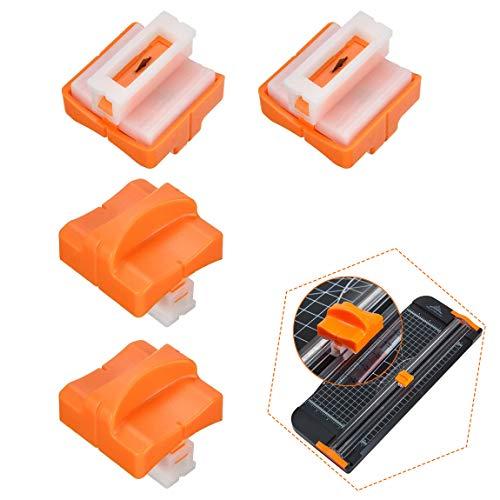 Ersatzklingen für Papierschneidemaschine,4 Pack Ersatzklingen für Papierschneider Papierschneidklinge mit Sicherheitsschutz Bunter Papierschneider Ersatzklingen Büromaterial Papierschneidklinge