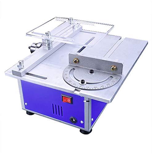 Multifunktionale Miniatur-Heimwerker Tischsäge Tischsäge Holzbearbeitung Kettensäge Modell Schneidemaschine mit Schiebe-Lineal