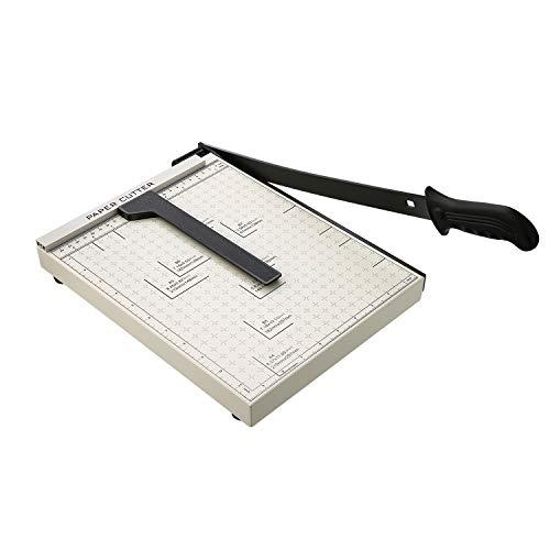A4 Papierschneider Papierschneidemaschine Fotoschneider Hebelschneider Schneidegerät Schrottmaschineider (Weiß)