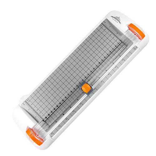 Delymc Papierschneider DN007 Papierschneidemaschine Schneidegerät mit Seitenlineal & Klinge für Büro Zuhause