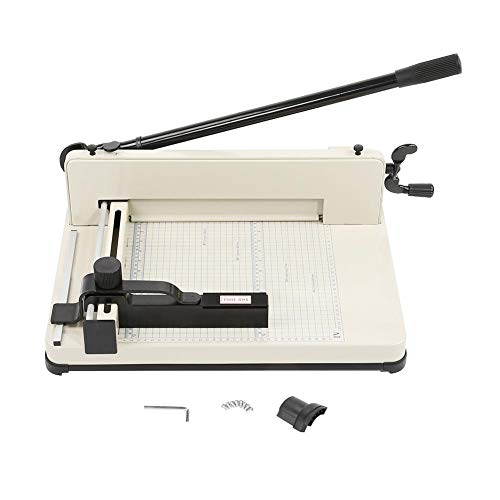 Ginorgee Papierschneidemaschine - Hochleistungs-A4-Papier-Guillotinenschneider-Hochgeschwindigkeits-Stahlklingenschneidemaschine