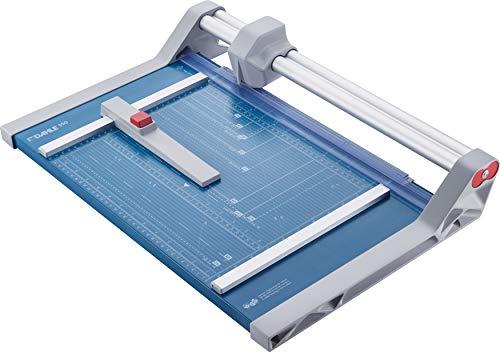 Dahle 550 Papierschneider Modell 2020 (bis DIN A4, 20 Blatt Schneidleistung, 2 mm Schnitthöhe) blau