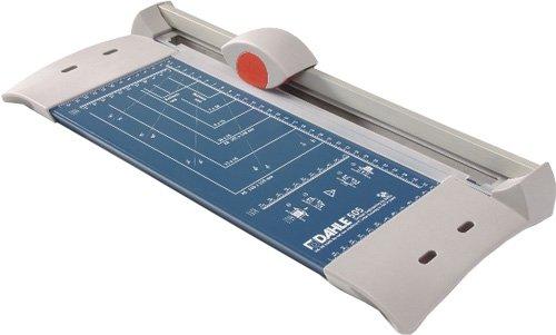 Dahle 505 Papierschneider (Bis DIN A4, 8 Blatt Schneidleistung) blau
