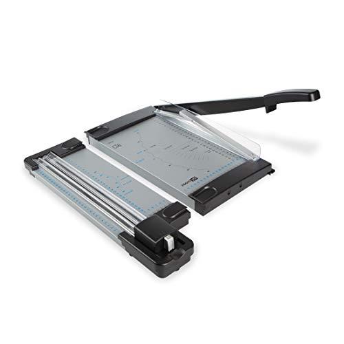 Zoomyo Schneidemaschine OC500 aus Metall, für DIN A4 – das kompakte 2-in-1-Gerät vereint Hebelschneidemaschine und Rollschneidemaschine und ist einfach tragbar, GS Zertifiziert, schwarz und grau*