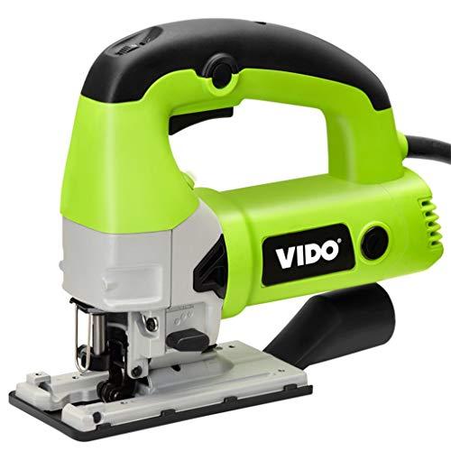 Stichsäge Jigsaw Einstellbare (1-6) Feile Schnittwinkel -45 ° bis 45 ° Haushaltszugblumensäge Holzschneidemaschine Handwerkzeugmaschine