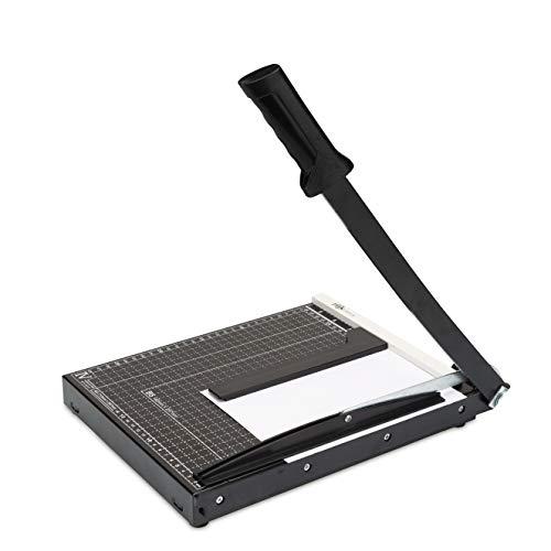 Papierschneider A4 – Profi Hebelschneider für Papier, Papierschneidemaschine mit Formatlinien inkl. Metall-Anschlag