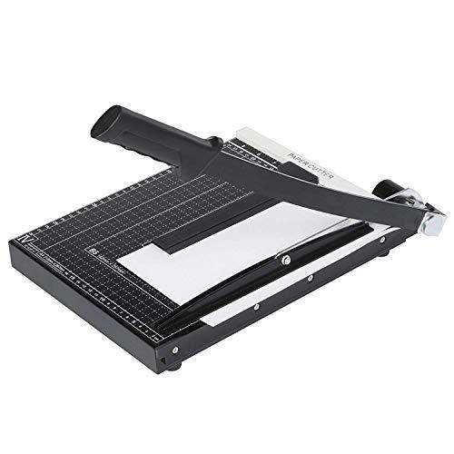 Lichire Papierschneidemaschine,325 mm, 12 Blatt, A4 Positionierhilfe, Fotoschneider für Gutschein, Bastelpapier, Etikett und Foto, Schwarz