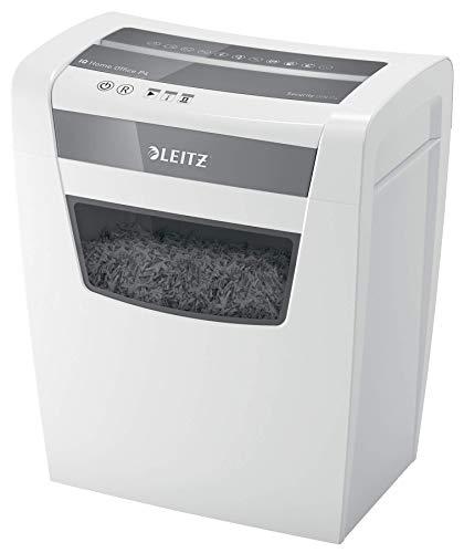 Leitz 80090000 IQ Home Office Aktenvernichter (Partikelschnitt, Sicherheitsstufe P4, 10 Blatt Kapazität, 23L Abfallbehälter, Schredder) weiß
