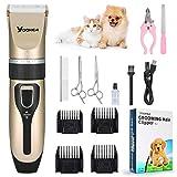 YOOKEA Tierhaarschneider Leiser Hundeschermaschine Schnurlosen Schermaschine Wiederaufladbare Tierhaarschneidemaschine Haarschneidemaschine mit 5 Positionen Profil Dog Grooming Clippers