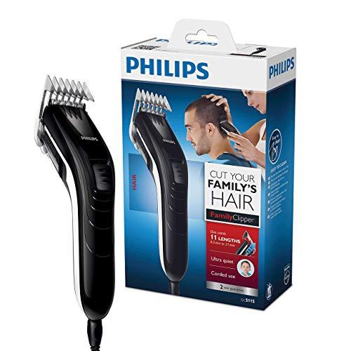 Philips QC5115/15, Haarschneider für die ganze Familie, extra leise mit Netzbetrieb