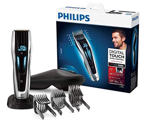 Philips HC9450/20 Haarschneidemaschine für Zuhause mit 400 Längeneinstellungen, langlebige Titaniumklingen, Digitale Touch-Steuerung, Turbo Modus, 120min Akkulaufzeit - kabelloser Haarschneider