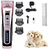 GOFUN Tierhaarschneider, Geräuscharmer Wiederaufladbare Haustier Haarschneider Elektrische Hundeschermaschine Drahtlose Tierhaartrimmer Tierschermaschine