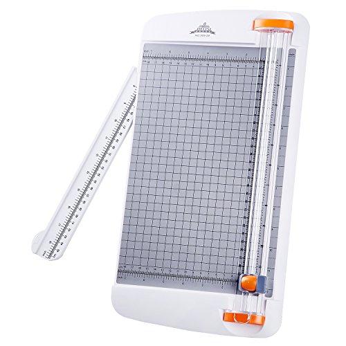 Jielisi Papierschneidemaschine A4 12 Zoll Papierschneidemaschine mit automatischer Sicherheitsüberwachung Guillotine und Seitenlineal für Gutschein, Bastelpapier, Etikett und Foto (909-2B)