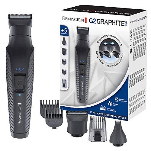 Remington Multi- Haarschneidemaschine G2 (inkl. 5 Aufsteckköpfe/-kämme, Akkubetrieb), Barttrimmer Herren, Haarschneider, Körper-, Ohr- & Nasenhaartrimmer, selbstschärfende Klingen, PG2000