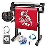 BananaB Vinyl Schneidplotter EH720mm Plotter Maschine 28 Inch Vinylschneider 3 Klingen Plotter Drucker 220V Viny Folienplotter mit integriertem optischen Lesegerät für Laserführung mit Ständer