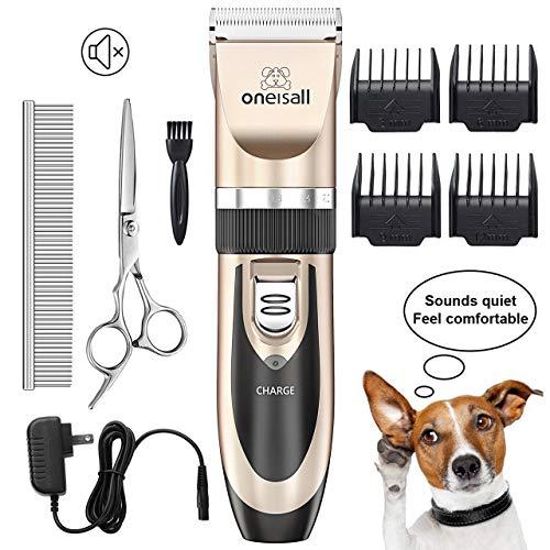ONEISALL Tierhaarschneidemaschine Hundeschermaschine Schermaschine Hund