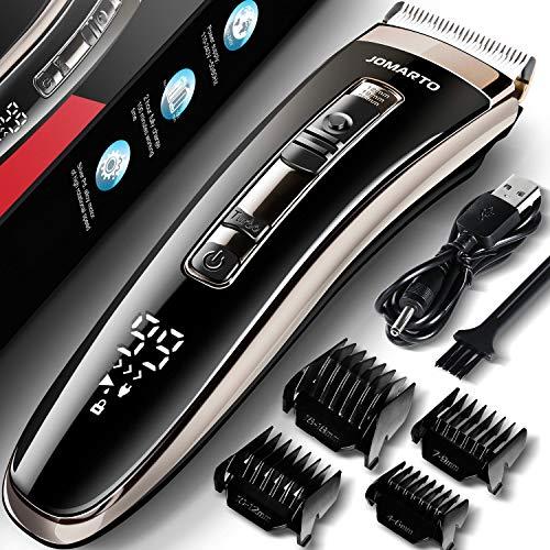 JOMARTO Haarschneider Profi Haarschneidemaschine Haartrimmer herren Home Friseur Geschenkset, USB wiederaufladbar, LCD-Display, Unterstützung für Schnellladung