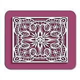 Mauspads abstrakte rosa schnittplatte mit spitzenmuster elegant zum laserschneiden holzschnitzerei ausschnitt weiße hochzeit mauspad für notebooks, Desktop-computer büromaterial