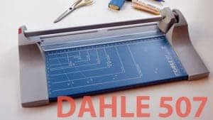 Dahle 507 rotary cutter paper cutting machine under test