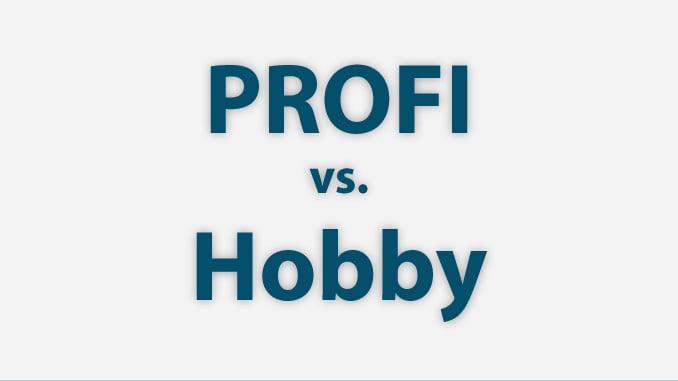 Unterschiede zwischen Profi und Hobby schnedieplottern