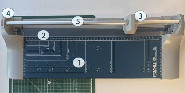 Dahle 508 Roll- und Schnittschneidemaschine Aufbau A3
